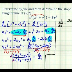 Ex 3:   Implicit Differentiation Using the Product Rule and Factoring