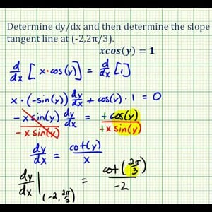 Ex 4:   Implicit Differentiation Involving a Trig Function