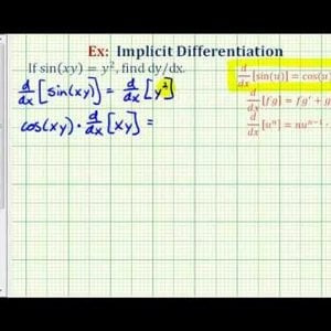 Ex: Implicit Differentiation Involving a Trig Function