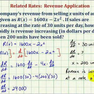 Ex: Related Rates - Find the Rate of Change of Revenue