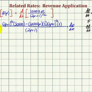Ex: Related Rates - Find the Rate of Change of Revenue (Quotient Rule)