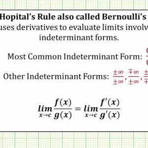 Determine if L'Hopital's Rule Can Be Applied to a Limit (Ex 2)