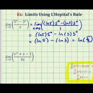 Ex 3: L'Hopitals Rule Involving Exponential Functions