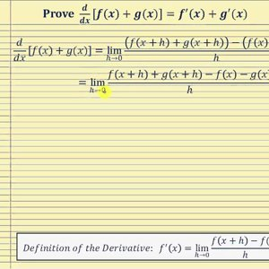 Proof - the Derivative of Sum and Difference of Functions:   d/dx[f(x)+g(x)]