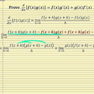 Proof - The Product Rule of Differentiation