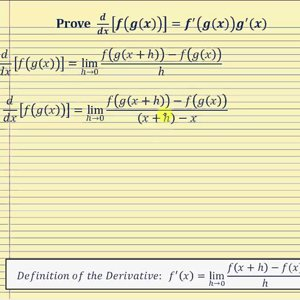 Proof - The Chain Rule of Differentiation