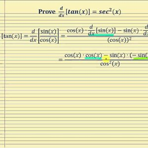 Proof - The Derivative of Tangent:   d/dx[tan(x)]