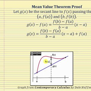 Proof of the Mean Value Theorem