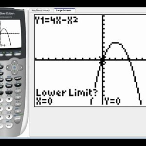 Determining the value of a definite integral on the graphing calculator