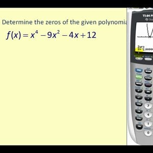 Determining the Zeros or Roots of a Polynomial Function on the TI83/84