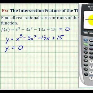 Ex 1: The Intersection Feature of the TI84 to Find Rational Zeros of a Polynomial