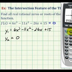 Ex 2: The Intersection Feature of the TI84 to Find Rational Zeros of a Polynomial