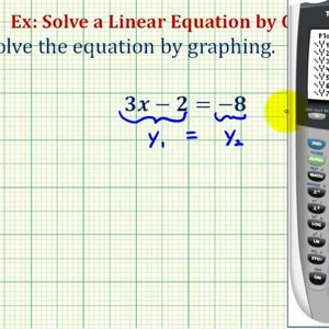 Ex: Solve a Linear Equation in One Variable Graphically using the TI84