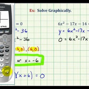 Ex 2: Solve a Quadratic Equation Graphically on Calculator