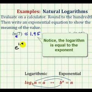 Ex: Evaluate Natural Logarithms on the Calculator