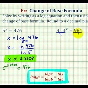 Ex: Change of Base Formula to Solve Basic Exponential Equations