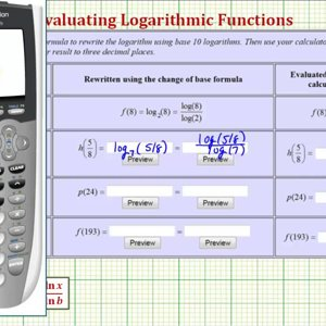 Ex: Evaluate Logarithmic Functions Using the Change of Base Formula