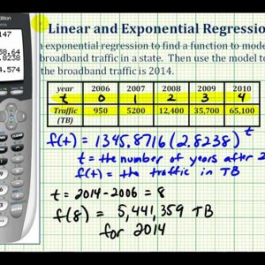 Ex: Perform Exponential Regression on a Graphing Calculator