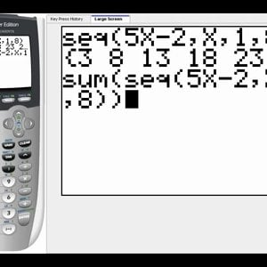 Sequences and Series on the TI84