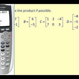 Matrix Multiplication on the Graphing Calculator