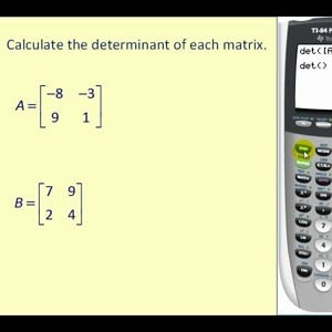 Determinants on the Graphing Calculator