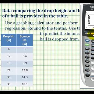 Ex 1: Create a Scatter Plot and then Perform Linear Regression on the Calculator