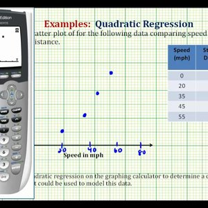 Ex: Quadratic Regression on the TI84 - Stopping Distance