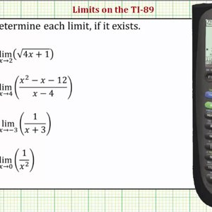 Determining Limits on the TI-89 - YouTube