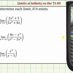 Determine Limits at Infinity on the TI-89 - YouTube