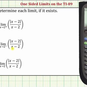 Determining One-Sided Limits on the TI-89 - YouTube