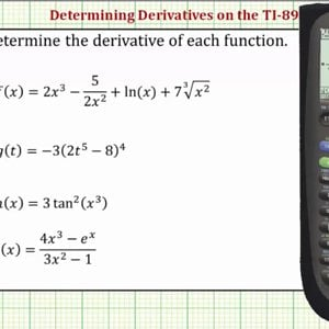 Determine Derivatives on the TI-89 - YouTube