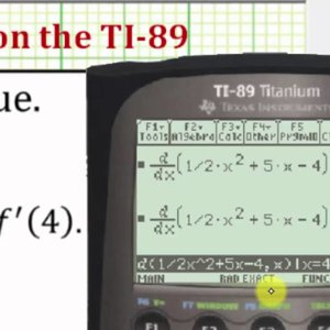 Determine Derivative Function Values on the TI-89 - YouTube