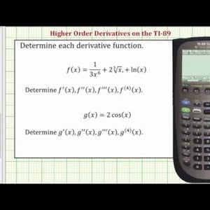 Determine Higher Order Derivatives on the TI-89 - YouTube