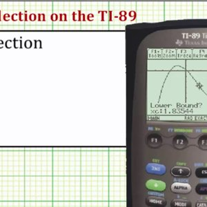Determine the Point of Inflection of a Function on the TI-89 - YouTube