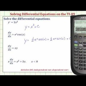 Solve First Order Differential Equations on the TI-89 - YouTube