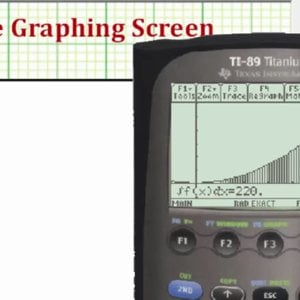Graph and Evaluate a Definite Integral on the TI-89 - YouTube