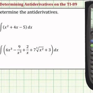 Determine Antiderivatives (Indefinite Integrals) on the TI-89 - YouTube