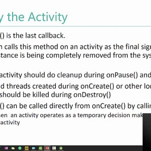 Mobile (Android) Computing by Prof. Pushpendra Singh (NPTEL):- Lecture 14: Activity Lifecycle I