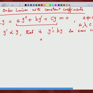 Differential Equations and Applications (NPTEL):- Lecture 13: Second Order Linear Equations II