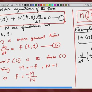 Differential Equations and Applications (NPTEL):- Lecture 11: Exact Equations