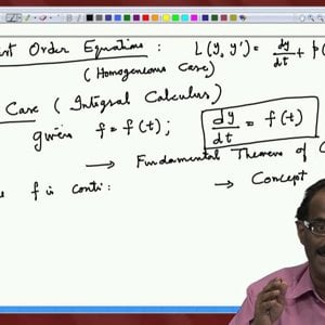 Differential Equations and Applications (NPTEL):- Lecture 10: First Order Linear Equations