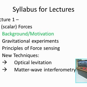 Small Scale Experiments - Lecture 1 - YouTube