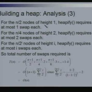 Lecture - 21 Binary Heaps - Data Structures and Algorithms by Dr. Naveen Garg (NPTEL)