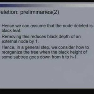 Lecture - 14 Red Black Trees - Data Structures and Algorithms by Dr. Naveen Garg (NPTEL)