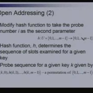 Lecture - 5 Hashing - Data Structures and Algorithms by Dr. Naveen Garg (NPTEL)