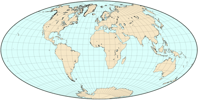 what the Earth looks like under an Aitoff projection