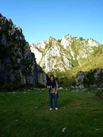 John Baez in Namo Gorge, Gansu