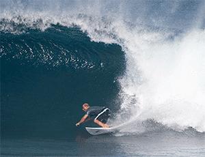 Garrett Lisi surfing