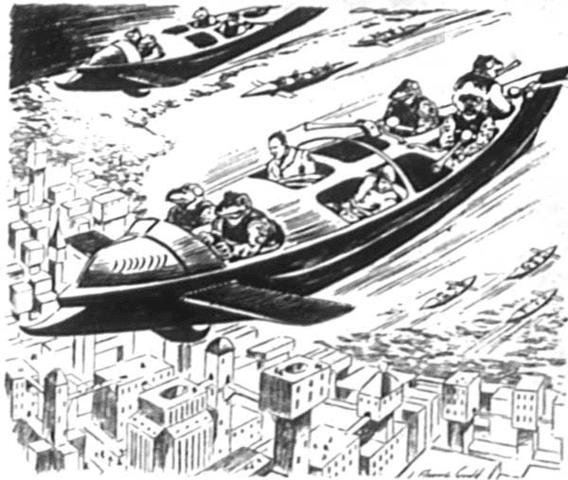 Edmond Hamilton'sThe Second Satellite illustration