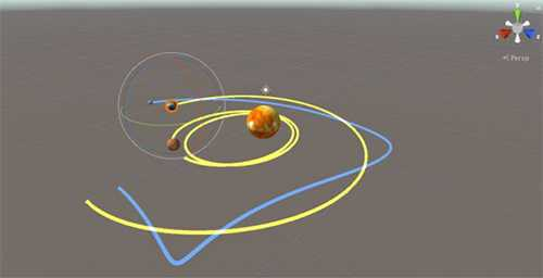Orbital Mechanics in Unity Game Engine for Augmented Reality